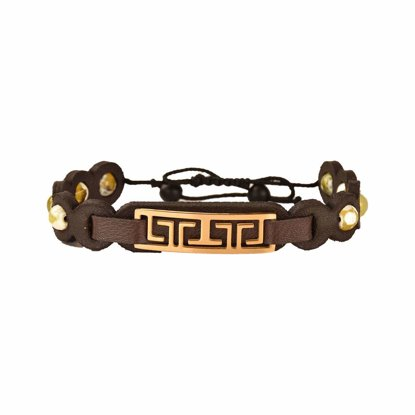 دستبند چرم کهن چرم مدل br308-4