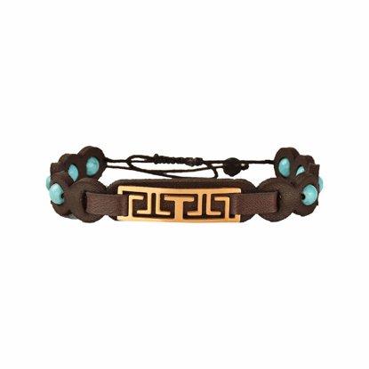 دستبند چرم کهن چرم مدل br308-6