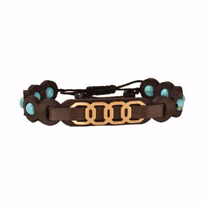 دستبند چرمی کهن چرم مدل BR310-6